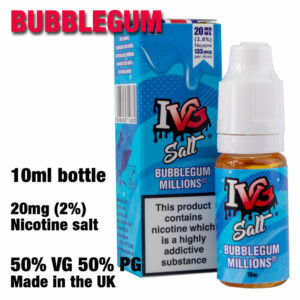 Bubblegum - I VG e-liquids - Salt Nic - 50% VG - 10ml