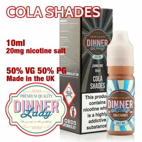 Cola Shades - Dinner Lady Salt Nic e-liquids - 50% VG - 10ml