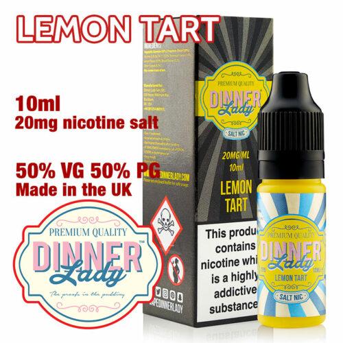 Lemon Tart - Dinner Lady Salt Nic e-liquids - 50% VG - 10ml