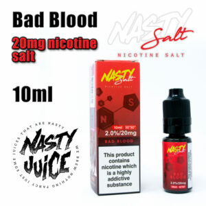 Bad Blood - Nasty Salts e-liquid - 10ml