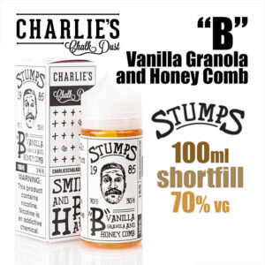 B - Vanilla Granola and Honey Comb - Stumps eliquid by Charlies Chalk Dust - 100ml