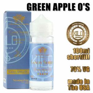Green Apple O's - Kilo e-liquid - 70% VG - 100ml