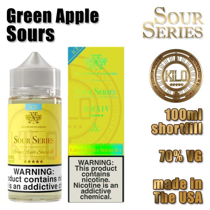 Green Apple Sours - Kilo e-liquid - 70% VG - 100ml