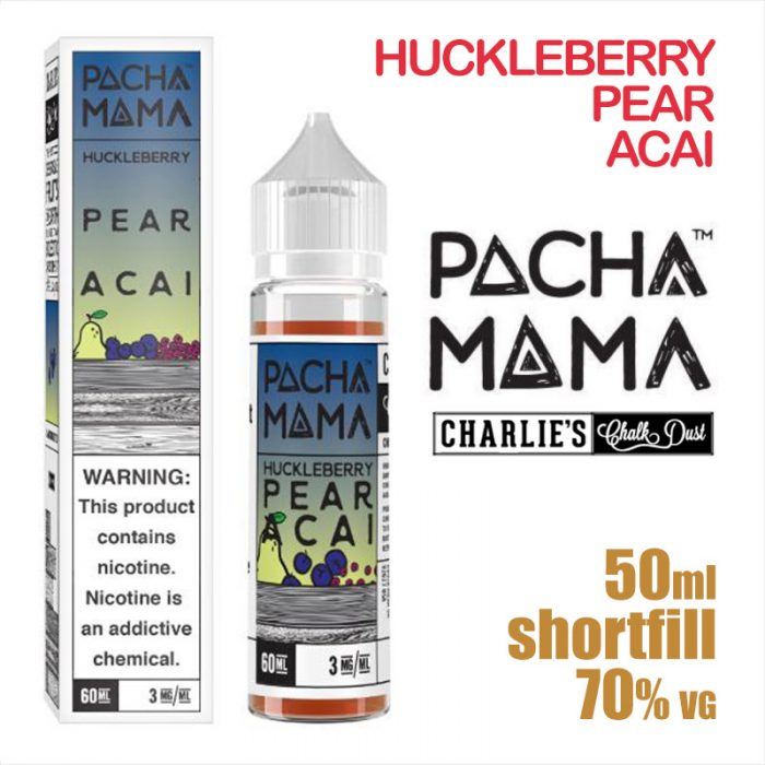 Huckleberry Pear Acai - PACHA MAMA eliquids - 50ml