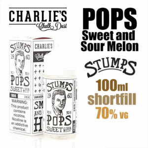 Pops Sweet and Sour Melon - Stumps eliquid by Charlies Chalk Dust - 100ml