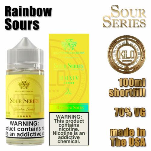 Rainbow Sours - Kilo e-liquid - 70% VG - 100ml