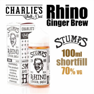 Rhino Ginger Brew - Stumps eliquid by Charlies Chalk Dust - 100ml