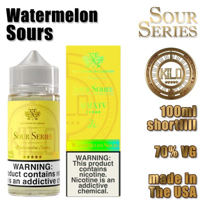 Watermelon Sours - Kilo e-liquid - 70% VG - 100ml