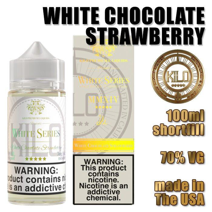 White Chocolate Strawberry - Kilo e-liquid - 70% VG - 100ml