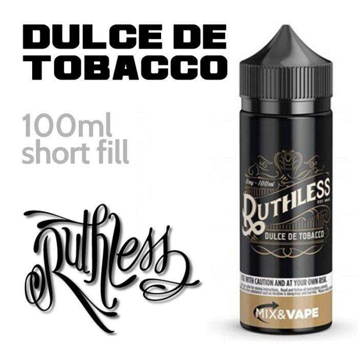 Dulce De Tobacco - Ruthless Vapor - 70% VG - 100ml