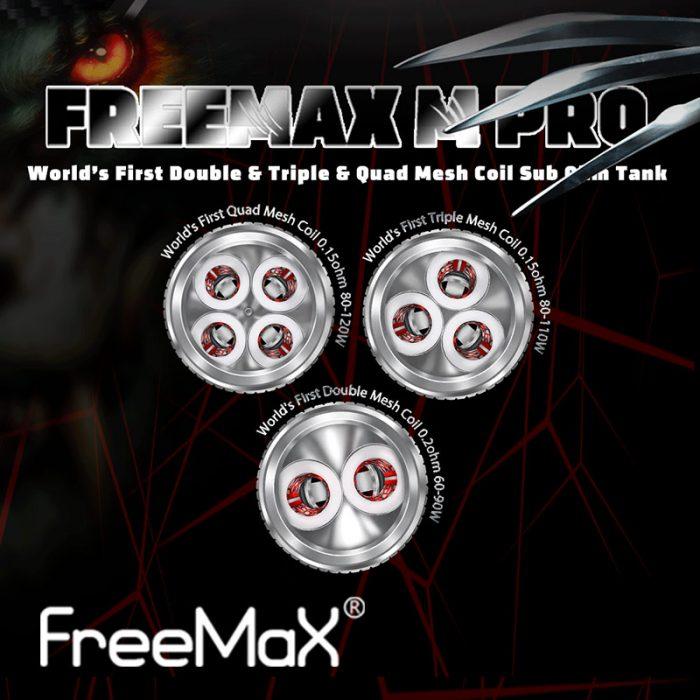 3 pack - FreeMax Mesh atomisers