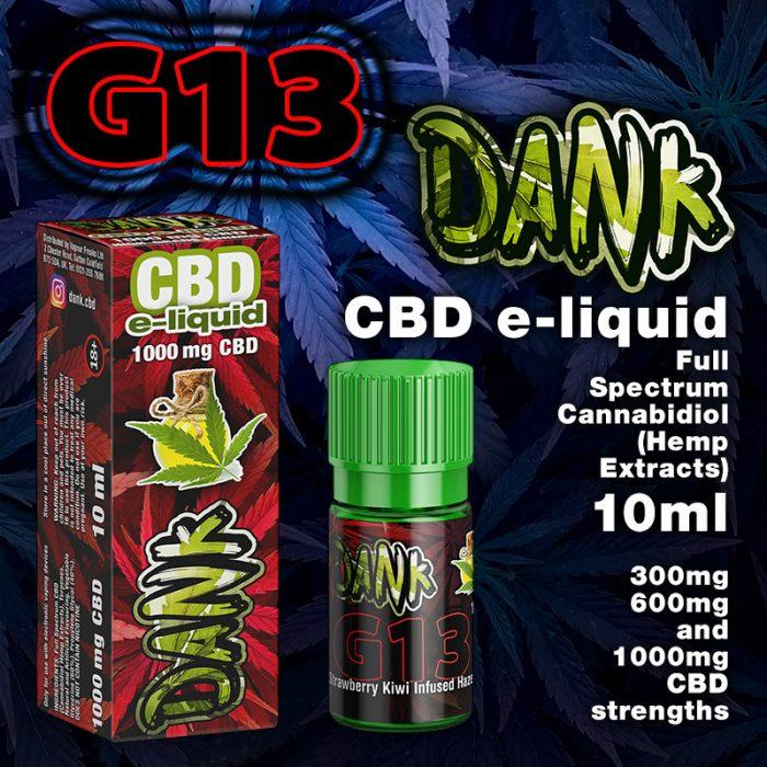G13 - DANK CBD e-liquid - 10ml