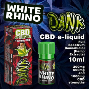 White Rhino - DANK CBD e-liquid - 10ml
