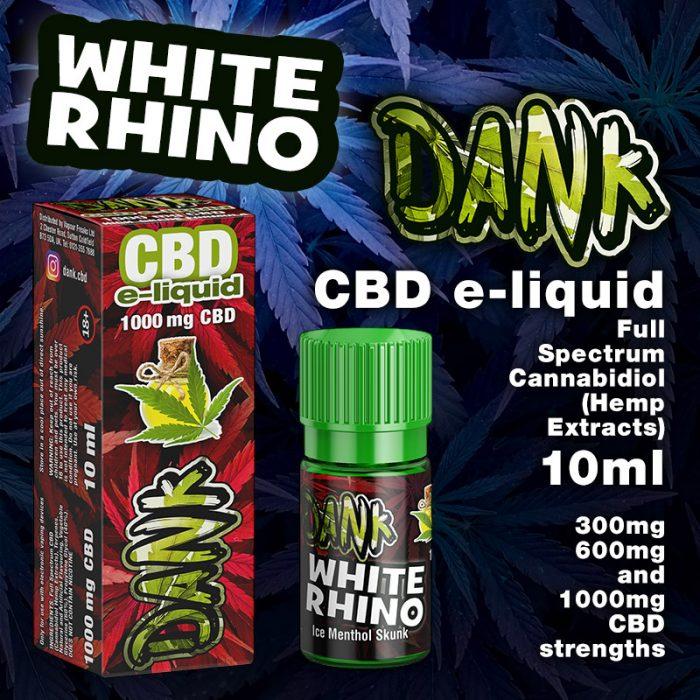 White Rhino - DANK CBD e-liquid - 10ml
