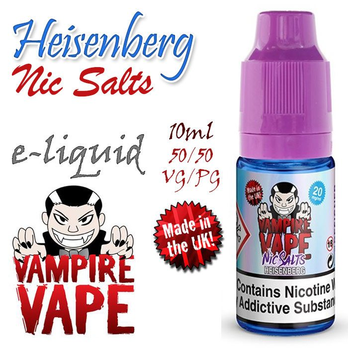 Heisenberg NIC SALTS - Vampire Vape e-liquid - 10ml
