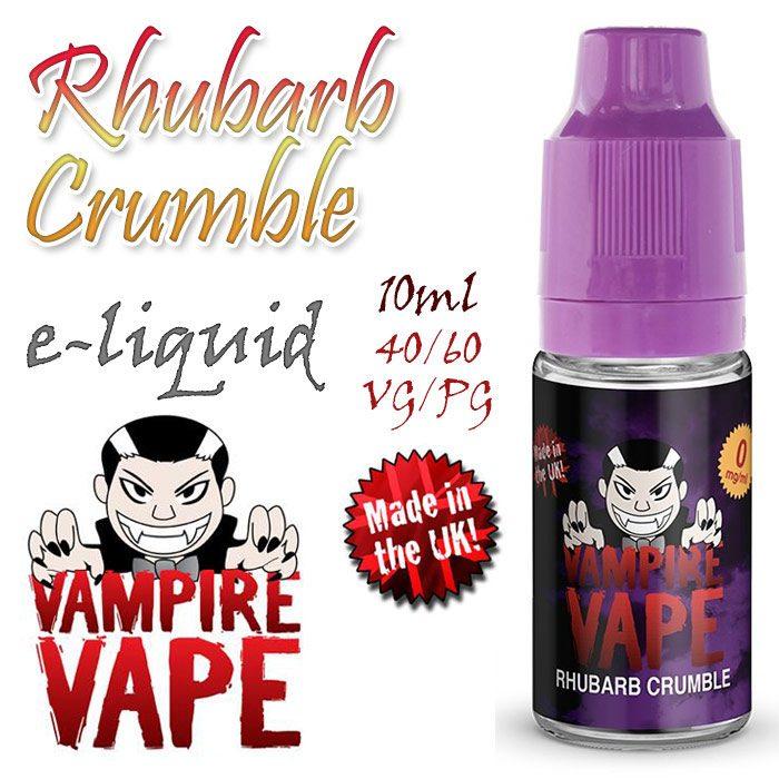 Rhubarb Crumble - Vampire Vape e-liquid - 10ml