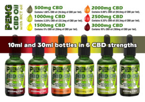 Peng CBD Oil with MCT Coconut Oil - 30ml bottle