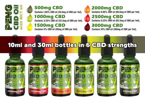Peng CBD Oil with MCT Coconut Oil - 30ml bottle