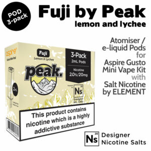 3 pack of Pods - Fuji by Peak and Element NicSalt for Aspire Gusto Mini