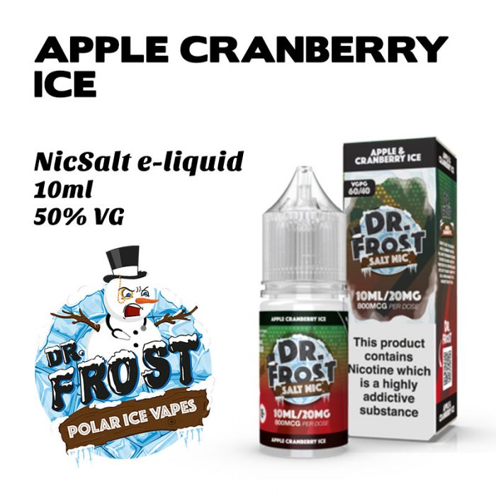 Apple Cranberry Ice - Dr Frost NicSalt e-liquid 10ml