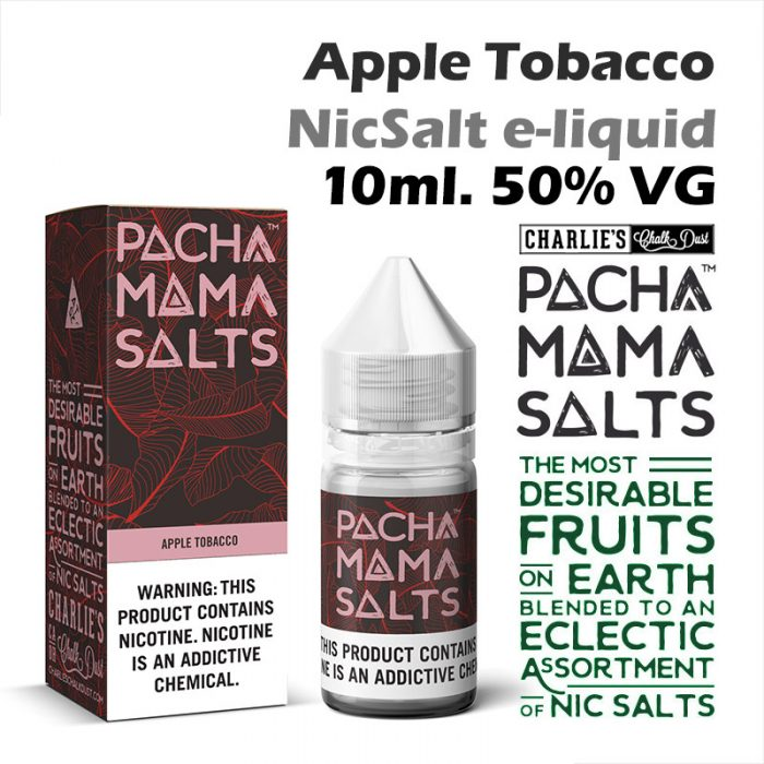 Apple Tobacco - Pacha Mama NicSalt e-liquid by Charlies Chalk Dust 10ml