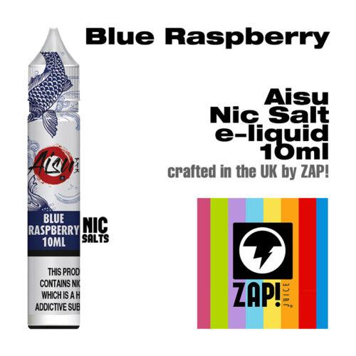 Blue Raspberry - Aisu NicSalt e-liquid made by Zap! 10ml