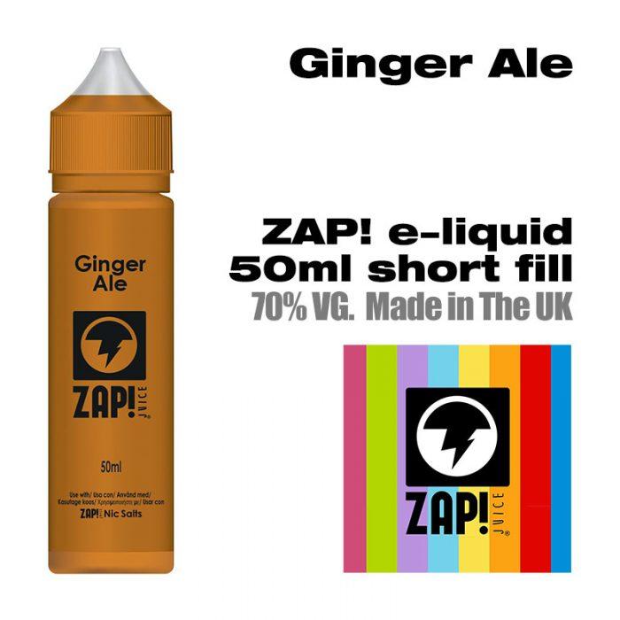 Ginger Ale by Zap! e-liquid - 70% VG - 50ml