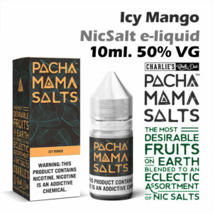 Icy Mango - Pacha Mama NicSalt e-liquid by Charlies Chalk Dust 10ml