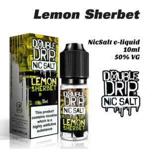 Lemon Sherbet - Double Drip NicSalt e-liquid 10ml