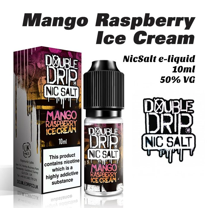 Mango Raspberry Ice Cream - Double Drip NicSalt e-liquid 10ml