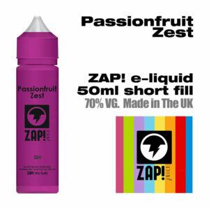 Passionfruit Zest by Zap! e-liquid - 70% VG - 50ml