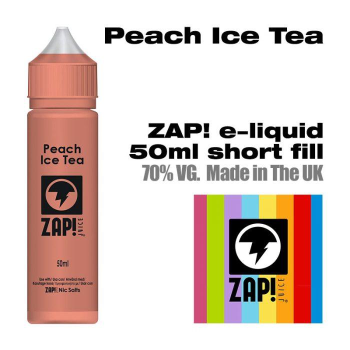 Peach Ice Tea by Zap! e-liquid - 70% VG - 50ml