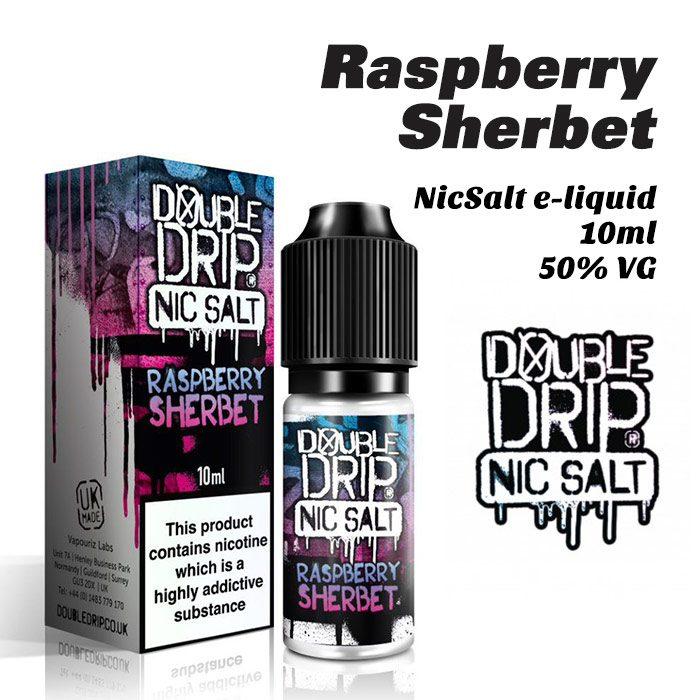 Raspberry Sherbet - Double Drip NicSalt e-liquid 10ml
