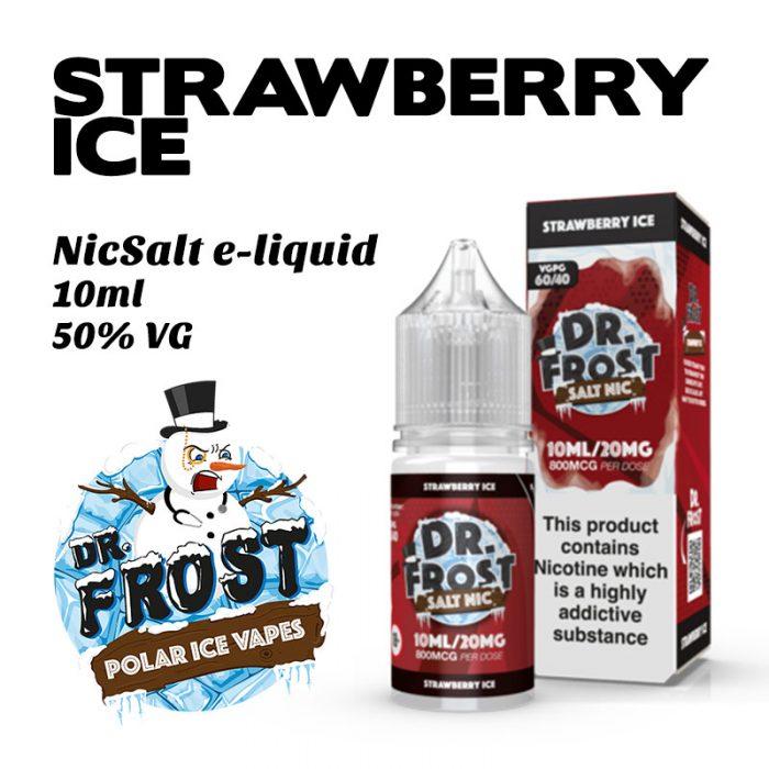 Strawberry Ice - Dr Frost NicSalt e-liquid 10ml