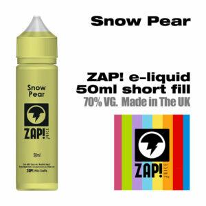 Snow Pear by Zap! e-liquid - 70% VG - 50ml