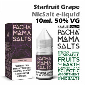 Starfruit Grape - Pacha Mama NicSalt e-liquid by Charlies Chalk Dust 10ml