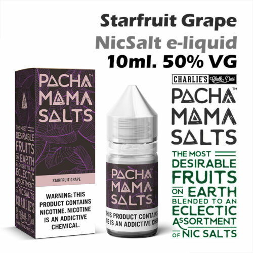 Starfruit Grape - Pacha Mama NicSalt e-liquid by Charlies Chalk Dust 10ml