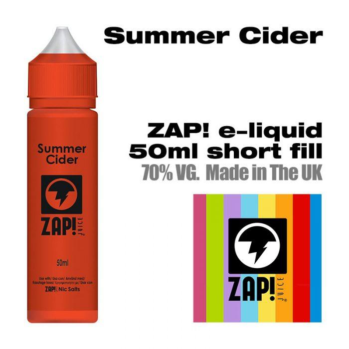 Summer Cider by Zap! e-liquid - 70% VG - 50ml