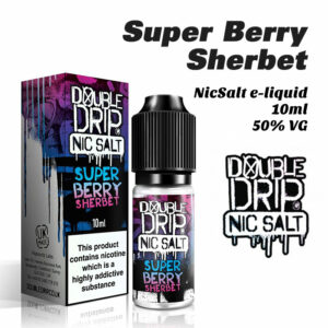 Super Berry Sherbet - Double Drip NicSalt e-liquid 10ml