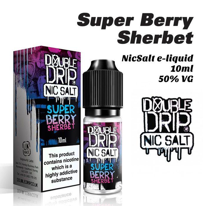 Super Berry Sherbet - Double Drip NicSalt e-liquid 10ml