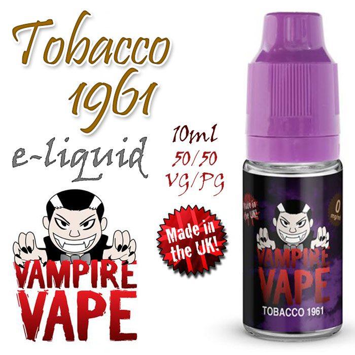 Tobacco 1961 - Vampire Vape 40% VG e-liquid - 10ml
