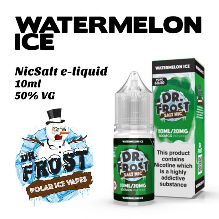 Watermelon Ice - Dr Frost NicSalt e-liquid 10ml