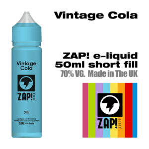 Vintage Cola by Zap! e-liquid - 70% VG - 50ml