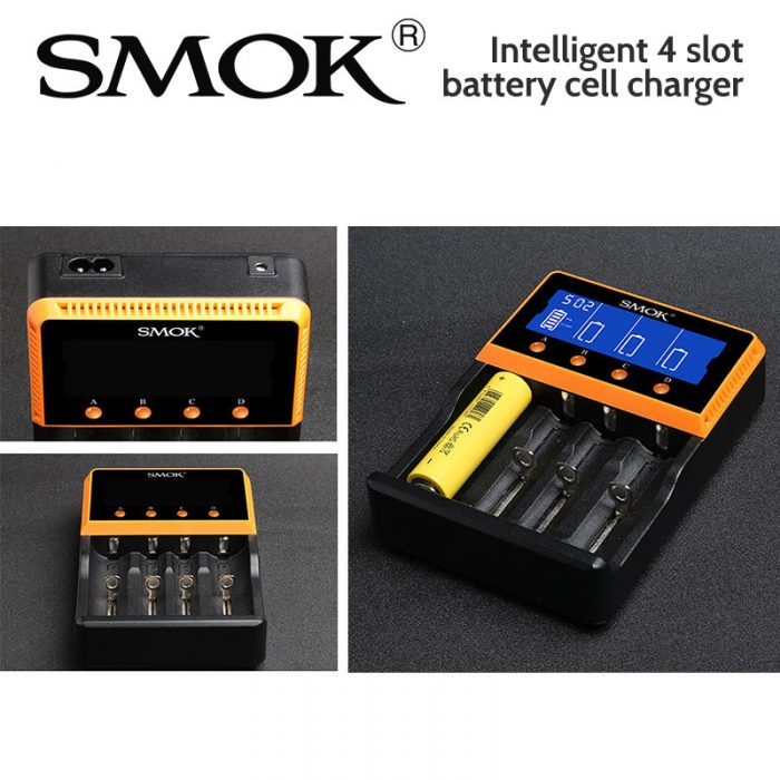 SMOK Intelligent 4 slot battery cell charger