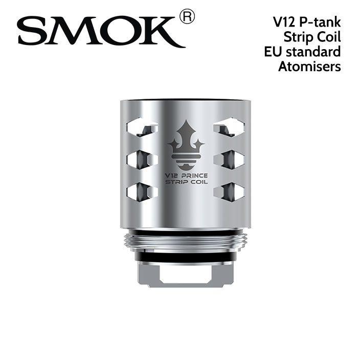 3 pack - SMOK V12 P-tank Strip Coil 0.15ohm atomisers
