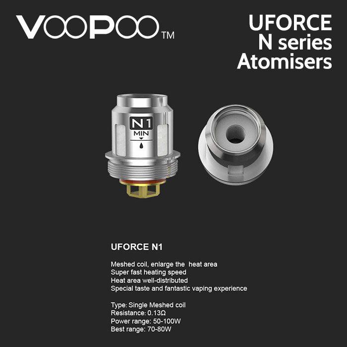 5 pack - VooPoo UFORCE N series mesh atomisers