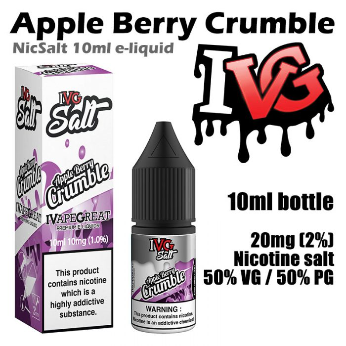 Apple Berry Crumble - I VG e-liquids - Salt Nic - 50% VG - 10ml