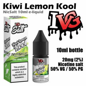 Kiwi Lemon Kool - I VG e-liquids - Salt Nic - 50% VG - 10ml