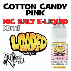 Cotton Candy Pink - NicSalt e-liquid by Loaded - 10ml