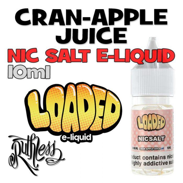 Cran-Apple Juice - NicSalt e-liquid by Loaded - 10ml